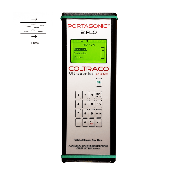 Portasonic® 2.FL0 Portable Clamp-on Ultrasonic Transit Time Flow Meter